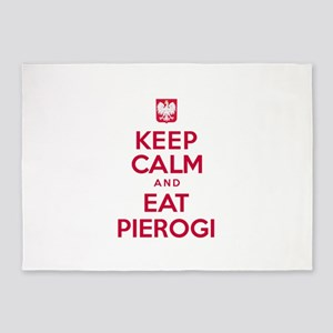 Keep Calm Eat Pierogi 5'x7'Area Rug